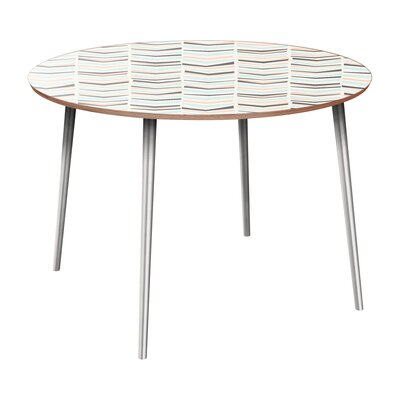 Cantero Dining Table Table Base Color: Chrome, Table Top Color: Walnut
