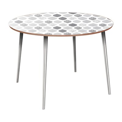 Canavan Dining Table Table Base Color: Chrome, Table Top Color: Walnut