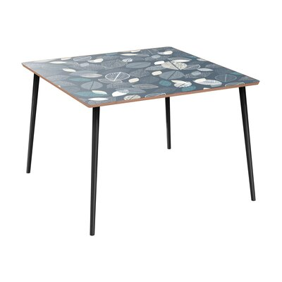 Clemmer Dining Table Table Base Color: Black, Table Top Color: Walnut