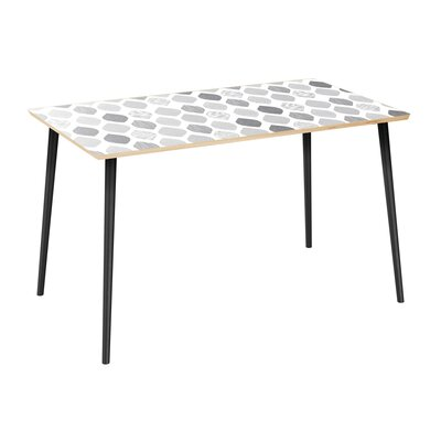 Copher Dining Table Table Top Color: Natural, Table Base Color: Black