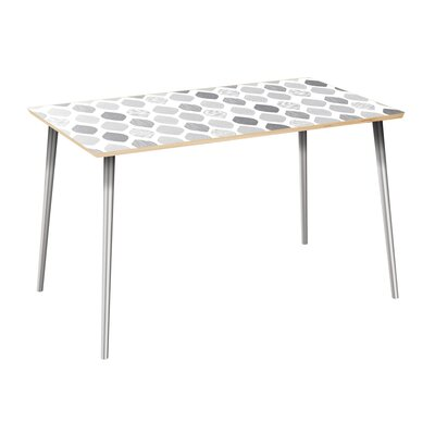 Copher Dining Table Table Top Color: Natural, Table Base Color: Chrome