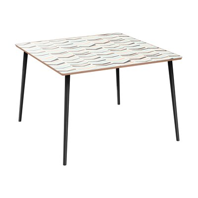 Cleopatra Dining Table Table Base Color: Black, Table Top Color: Walnut
