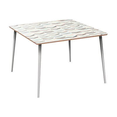 Cleopatra Dining Table Table Base Color: Chrome, Table Top Color: Walnut