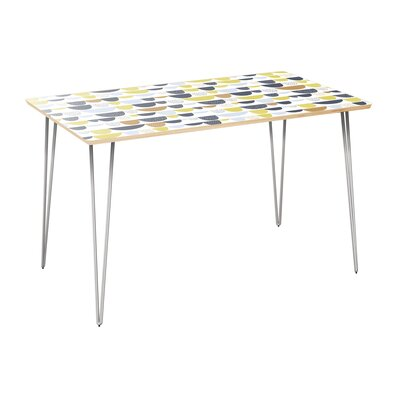 Cooperman Dining Table Table Top Color: Natural, Table Base Color: Chrome