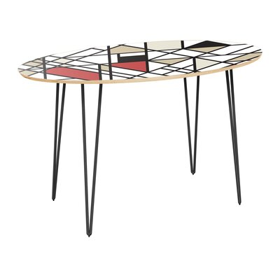 Cletus Dining Table Table Top Color: Natural, Table Base Color: Black