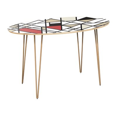 Cletus Dining Table Table Top Color: Natural, Table Base Color: Brass