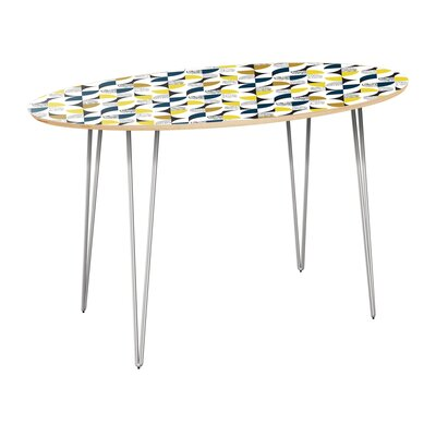 Cliffside Dining Table Table Top Color: Natural, Table Base Color: Chrome