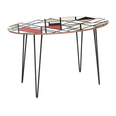 Cletus Dining Table Table Base Color: Black, Table Top Color: Walnut