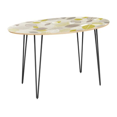 Coplin Dining Table Table Top Color: Natural, Table Base Color: Black