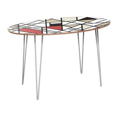 Cletus Dining Table Table Base Color: Chrome, Table Top Color: Walnut