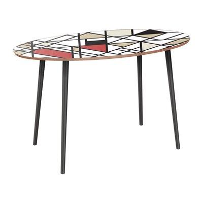 Clever Dining Table Table Base Color: Black, Table Top Color: Walnut