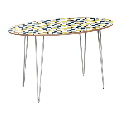 Cliffside Dining Table Table Base Color: Chrome, Table Top Color: Walnut