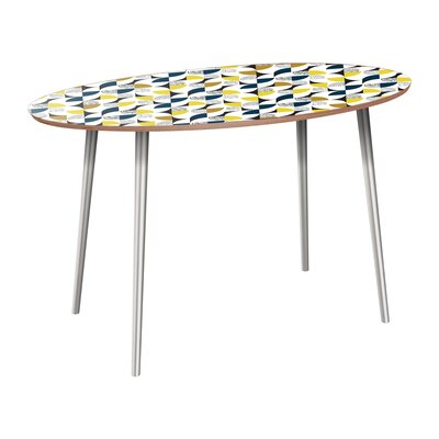 Copland Dining Table Table Base Color: Chrome, Table Top Color: Walnut