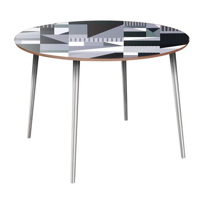 Coppock Dining Table Table Base Color: Chrome, Table Top Color: Walnut