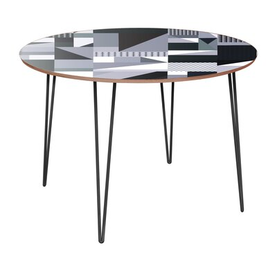 Copple Dining Table Table Base Color: Black, Table Top Color: Walnut