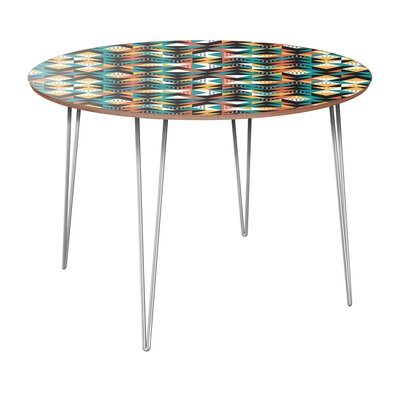 Regil Dining Table Table Base Color: Chrome, Table Top Color: Walnut