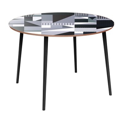 Coppock Dining Table Table Base Color: Black, Table Top Color: Walnut