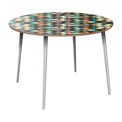 Rego Dining Table Table Base Color: Chrome, Table Top Color: Walnut