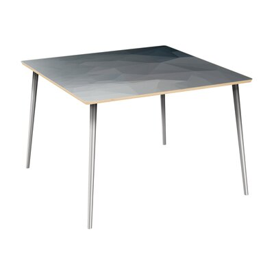 Conwell Dining Table Table Top Color: Natural, Table Base Color: Chrome