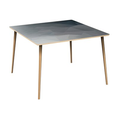 Conwell Dining Table Table Top Color: Natural, Table Base Color: Brass