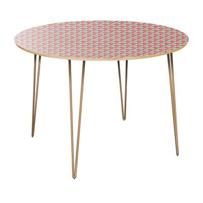Conners Dining Table Table Top Color: Natural, Table Base Color: Brass