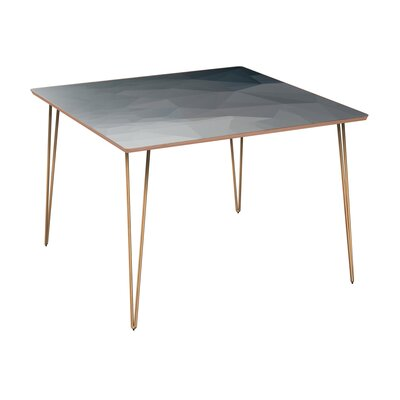 Convery Dining Table Table Base Color: Brass, Table Top Color: Walnut