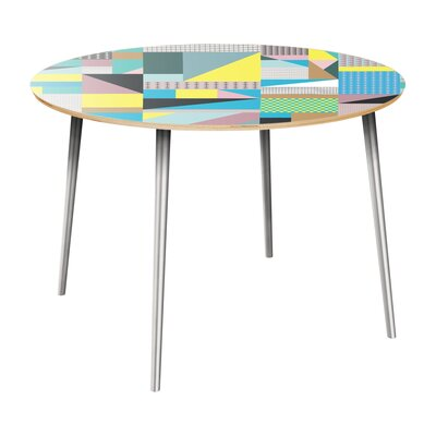 Coppin Dining Table Table Top Color: Natural, Table Base Color: Chrome