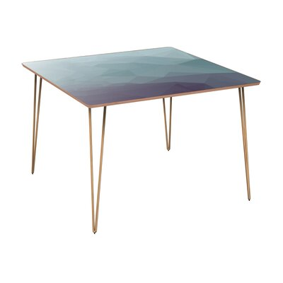 Cooksey Dining Table Table Base Color: Brass, Table Top Color: Walnut