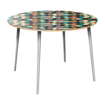 Rego Dining Table Table Top Color: Natural, Table Base Color: Chrome
