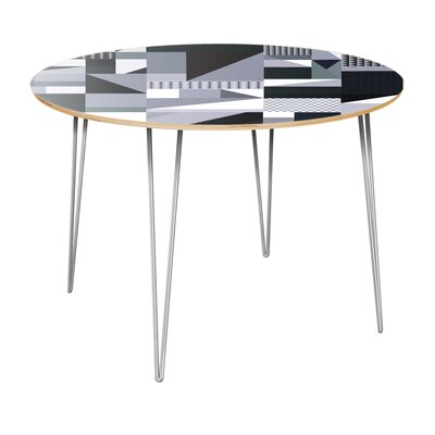 Copple Dining Table Table Top Color: Natural, Table Base Color: Chrome
