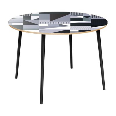 Coppock Dining Table Table Top Color: Natural, Table Base Color: Black