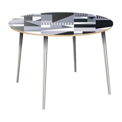 Coppock Dining Table Table Top Color: Natural, Table Base Color: Chrome