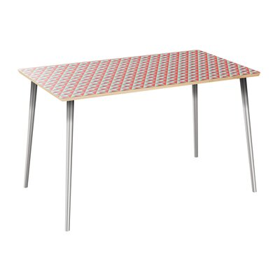 Clairlea Dining Table Table Top Color: Natural, Table Base Color: Chrome