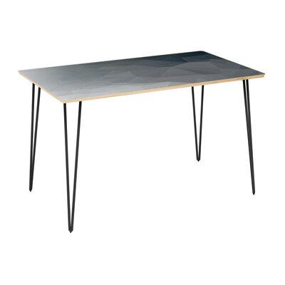 Clardy Dining Table Table Top Color: Natural, Table Base Color: Black