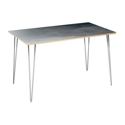 Clardy Dining Table Table Top Color: Natural, Table Base Color: Chrome