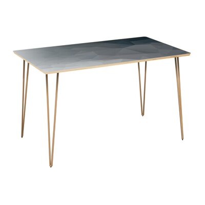 Clardy Dining Table Table Top Color: Natural, Table Base Color: Brass