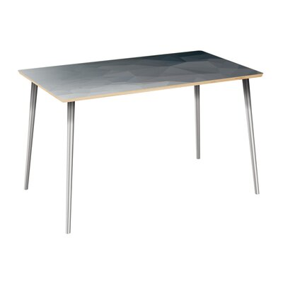 Clary Dining Table Table Top Color: Natural, Table Base Color: Chrome