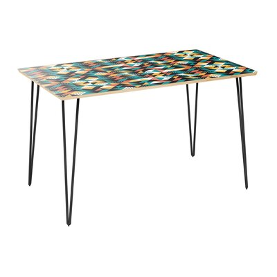 Coomes Dining Table Table Top Color: Natural, Table Base Color: Black