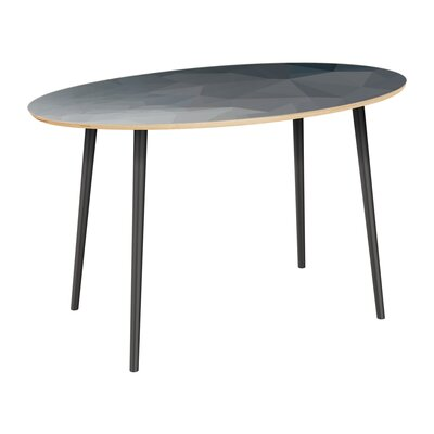 Claudio Dining Table Table Top Color: Natural, Table Base Color: Black