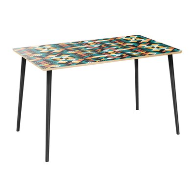 Coonrod Dining Table Table Top Color: Natural, Table Base Color: Black