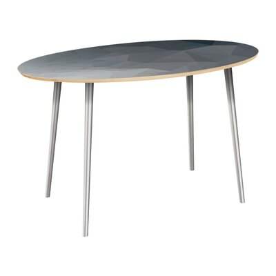 Claudio Dining Table Table Top Color: Natural, Table Base Color: Chrome