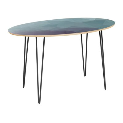 Claunch Dining Table Table Top Color: Natural, Table Base Color: Black