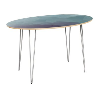 Claunch Dining Table Table Top Color: Natural, Table Base Color: Chrome