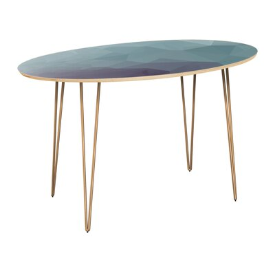 Claunch Dining Table Table Top Color: Natural, Table Base Color: Brass
