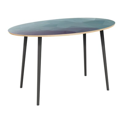 Claus Dining Table Table Top Color: Natural, Table Base Color: Black