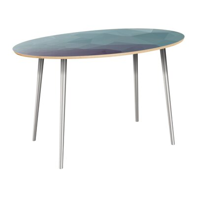Claus Dining Table Table Top Color: Natural, Table Base Color: Chrome