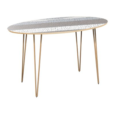 Cleaves Dining Table Table Top Color: Natural, Table Base Color: Brass