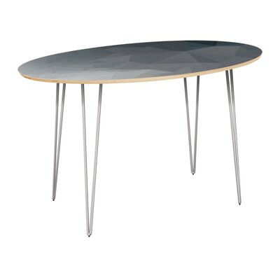 Classen Dining Table Table Top Color: Natural, Table Base Color: Chrome