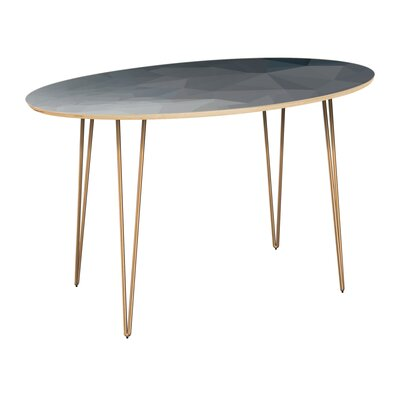 Classen Dining Table Table Top Color: Natural, Table Base Color: Brass