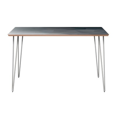 Clardy Dining Table Table Base Color: Chrome, Table Top Color: Walnut
